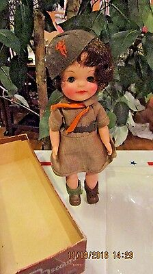 Vintage Official Brownie Girl Scout Doll  11-965 In Original Box