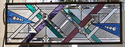 """Stained Glass window hanging 36 1/2 X 13"""""""