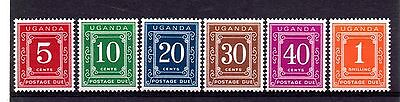 Uganda (174)  approx 1967 Postage due set of 6 lightly mounted mint D12-17