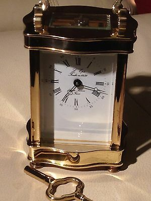 L'Epee 8 day Mechanical brass carriage clock