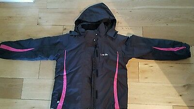 Girls age 9-10years black jacket coat dare 2 b school winter padded with hood