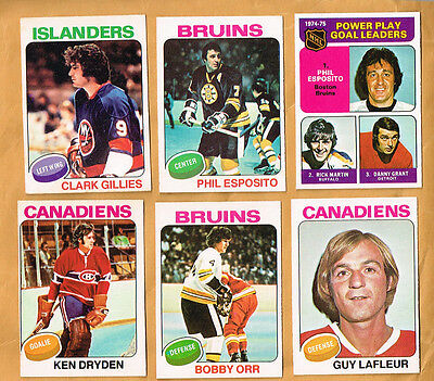1975-76 OPC Set 1-396 Tremblay Snepsts Gilles