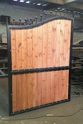 BRAND NEW Iron and Timber Gate, Metal, Steel