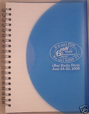 """eBay Radio Party Spiral Notebook 7""""X5"""" 6th Anniversary Vegas 2009 NEW In Bag"""