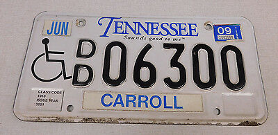 2009 Tennessee handicapped license plate