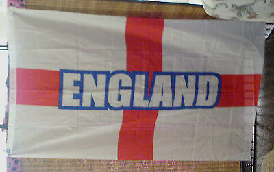 "England Flag 5' x 3"" w/ 2 Brass Grommets New Free Shipping"