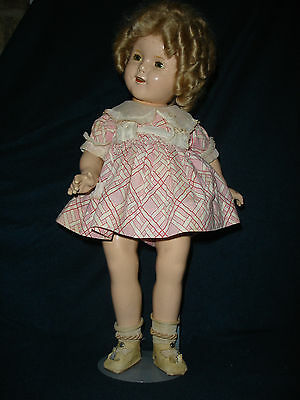 """18 """" 1930's Ideal Shirley Temple Composition Doll Price Reduced"""