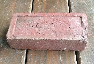 Antique street paver brick Small Rectangle Thin Border Pattern Sidewalk Red Tile