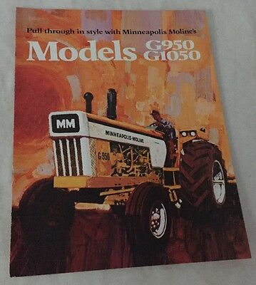 1972 MINNEAPOLIS MOLINE G950-G1050 TRACTOR BROCHURE 8 Pages