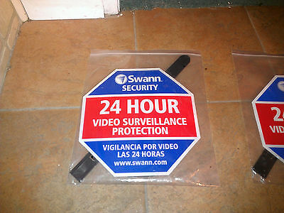 Swann Communications Security Deterrent Sign SW276YSS English & Spanish NEW
