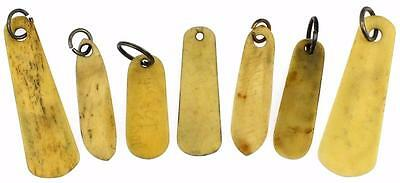 Antique Victorian Cow Bone Key Tags x 7