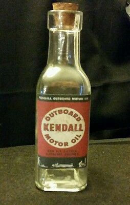 Vintage Style Kendall Outboard Motor Oil Glass  Bottle...Artist Handcrafted