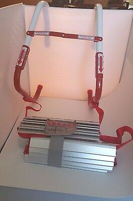 NWOB Kidde KL-2S  2-Story Fire Escape Ladder with Anti-Slip Rungs 13-Foot RED