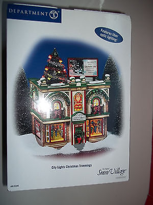 DEPARTMENT 56 55348 City Lights Christmas Trimmings, NEW