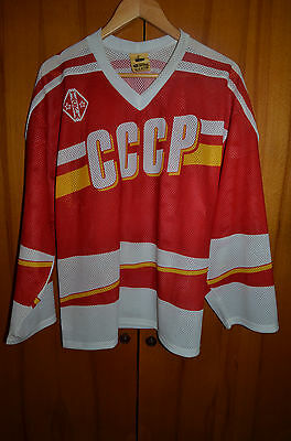 Ussr Soviet Union National Team Ice Hockey Shirt Jersey Maglia Tackla Vintage