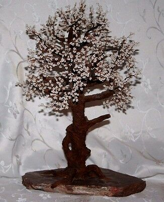 Large Metal Wire Bonsai Tree on Marble? Base