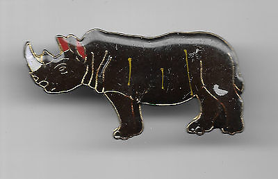 Vintage Rhinoceros old enamel pin
