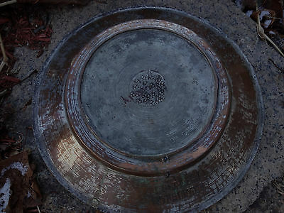 ANTIQUE ISLAMIC PERSIAN OTTOMANS COPPER/METAL BRONZE PLATE HEAVY 2lb 36oz