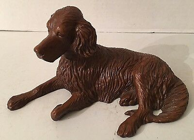 Rare 1982 Red Mill Irish Setter Dog Figurine Signed Dated Beautiful Detail Pecan