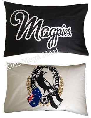 Collingwood Magpies Reversible AFL Official Licensed Pillowslip Pillow Case NEW