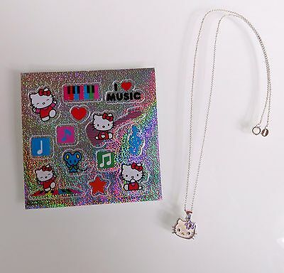 "Hello Kitty Sterling Silver Necklace - Simple and Sweet - 18"" chain"