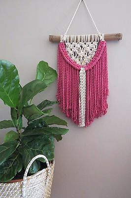Macrame Wall Hanging Hand Knotted  Wall Decor Boho Beach Natural Cotton Rope