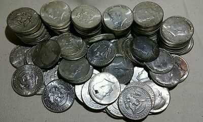 Lot of 10 1964 Kennedy 90% Silver Half Dollars - Free Shipping!