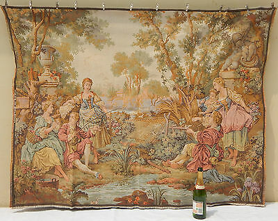 "Vintage Large Beligian The Gallantries Wall Hanging/Tapestry (64"" x 51"")"