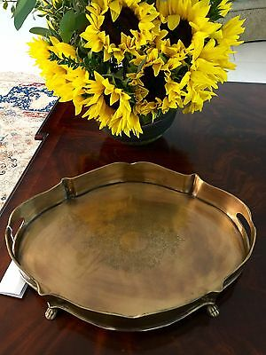 Beautiful Antique Brass Tray!