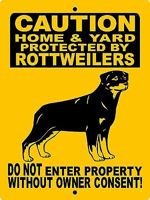 Rottweiler Dog Sign,no Trespassing Signs, Vinyl Graphics H2496Hyrw
