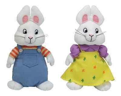 Ty Beanie Baby Max & Ruby Set Handmade Finest Quality Standards Heart-Shaped Tag