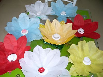 mix colors Paper lotus Lantern Chinese  Party Birthday Wedding Home Decoration