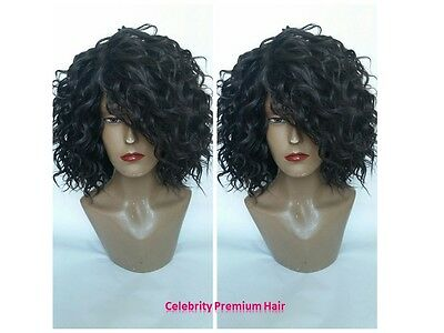 Curly Freestyle Diva Human Hair Blend Lace Or (Dome Cap) Wig