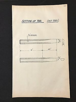 Harland & Wolff, Belfast -1930's Engineering Drawing SETTING UP TOOL (P22)