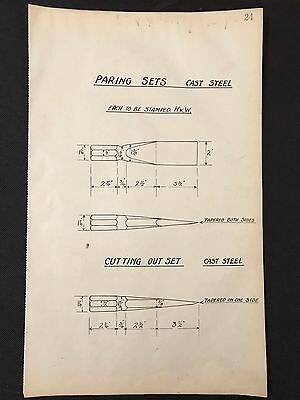 Harland & Wolff, Belfast -1930's Engineering Drawing PARING SETS (P24)