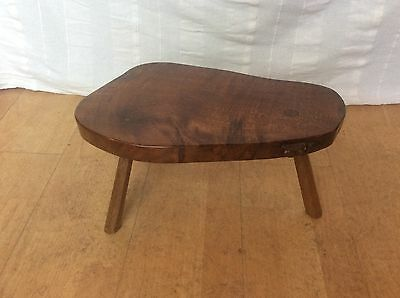 Colin Almack BeaverMan Handmade Arts & Crafts 3 legged Stool Carved Wood Beaver