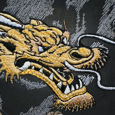 LARGE PATCH POWER DRAGON IRON&SEW ON 9.1 x 12.2 and 8.35 x 11.27 inches