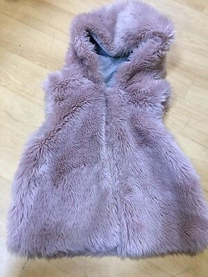 Next Pink Faux Fur Gillet Body Warmer Age 4