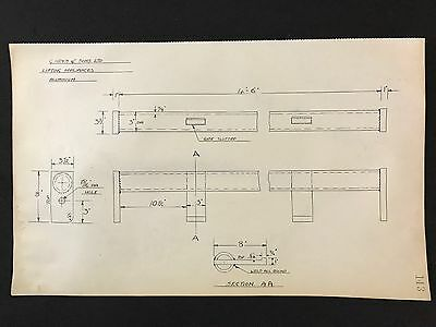 Harland & Wolff, Belfast -1930's Engineering Drawing LIFTING APPLIANCES (P143)