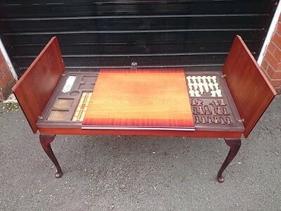 High Quality Vintage Inlaid Coffee Table / Card Games Table