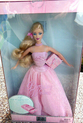BARBIE BIRTHDAY WISHES PINK NRFB - model doll collection collezione Mattel