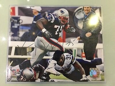 Vince Wilfork Signed autographed 8x10 Photos