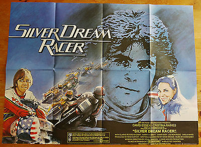 vintage original Silver Dream Racer quad film cinema poster 1980 David Essex