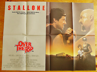 vintage original Over The Top quad film cinema poster 1987 Stallone
