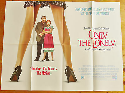 vintage original Only The Lonely quad film cinema poster 1991 John Candy