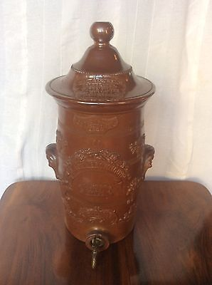 Antique c19th Stoneware Pottery Slack & Brownlow Manchester Patent Water Filter