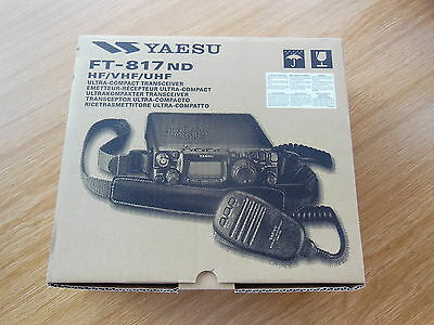 KURZWELLENTRANSCEIVER YAESU FT-817ND NEU & OVP  TOP 2 M 70 CM  QRP  5 Watt 817