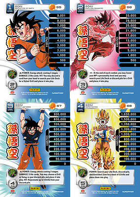 Goku Lv1-4 Set 1 Main Personality Lot MP Hero Panini Base Set DBZ CCG
