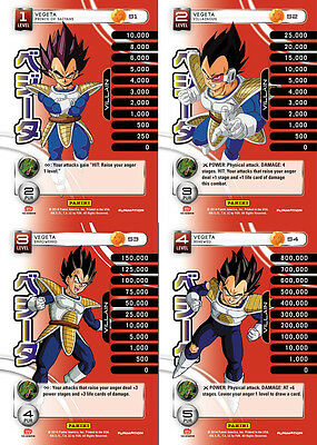 Vegeta Lv1-4 Set 1 Main Personality Lot MP Villain Panini Base Set DBZ CCG