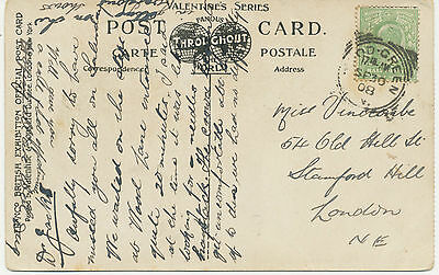 """2455 """"WOOD-GREEN / N. / 1"""" (LONDON) extremely rare Squared Circle Postmark pc"""